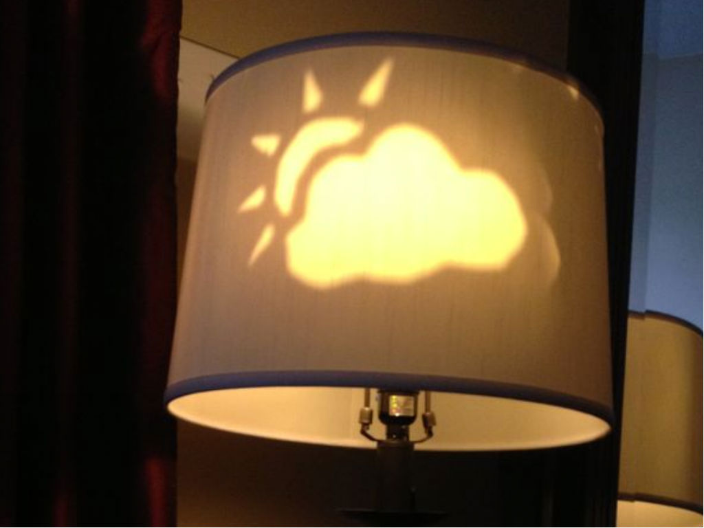 Arduino powered lamp projects the weather codeduino