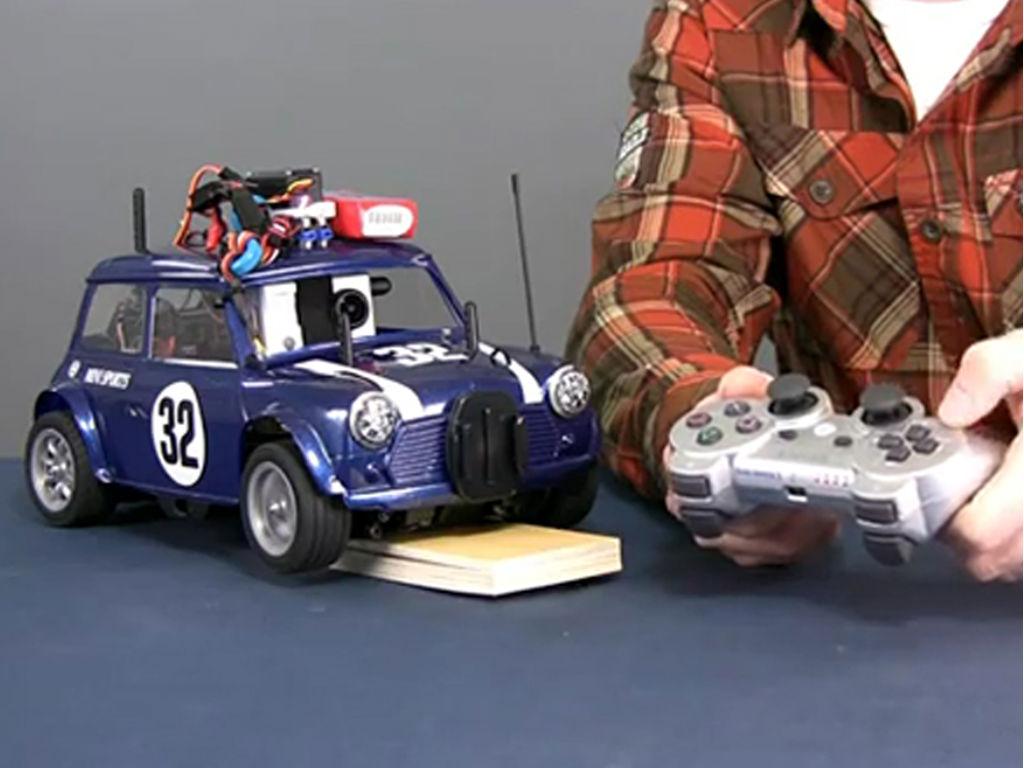 Arduino wifly mini powered rc car codeduino