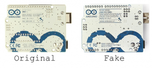 Original vs Fake Arduino - Rear