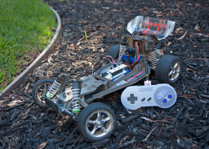 Flutter hooked up to an RC car